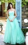 Embroidered Sherri Hill 50952 Sweetheart Tulle Long Princess Dress 2017