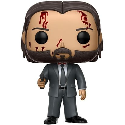 Funko Pop! Movies: Bloody John Wick Chapter 2 Limited Chase Variant Vinyl Figure (Bundled with Pop BOX PROTECTOR CASE)
