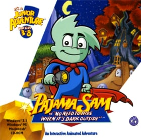 PAJAMA SAM - NO NEED TO HIDE WHEN ITS DARK OUTSIDE