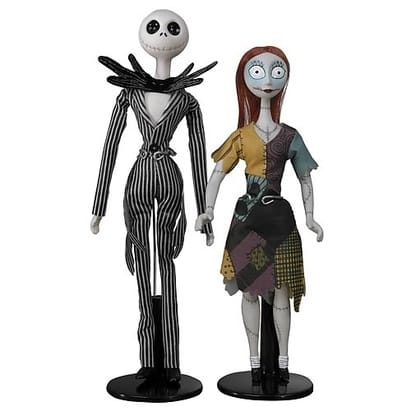 The Nightmare Before Christmas Jack and Sally Porcelain Doll Set